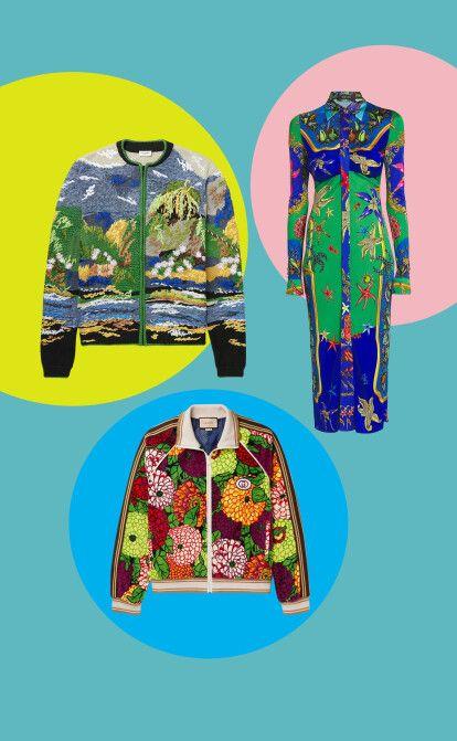Надоела домашняя униформа? Этой весной бренды выпускают яркую одежду с принтами и декором. Forbes выбрал 24 знаковых предмета /Фото официальные источники/коллаж Forbes