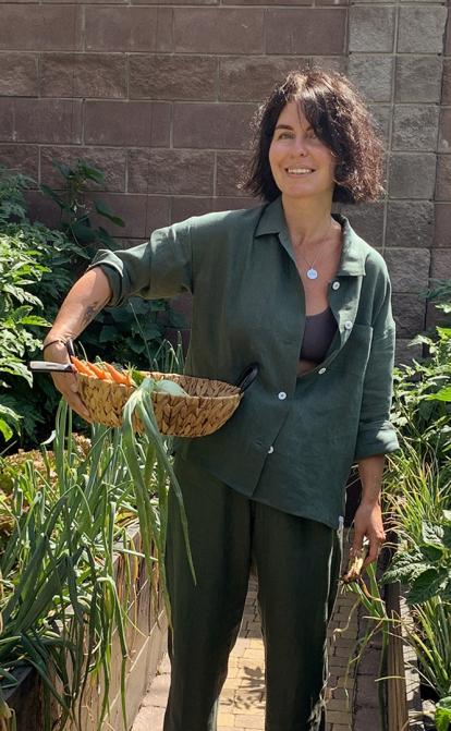 Інна Поперешнюк готує кожен день і вирощує овочі на своєму городі. Як захоплення кулінарією змінює життя і підхід до бізнесу співзасновниці Нової пошти /Фото Особистий архів Інни Поперешнюк